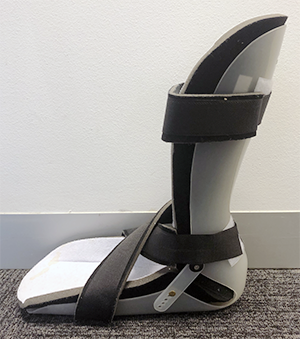 Photo of an orthotic boot/support (prosthetic)
